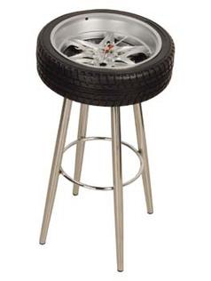 Tire-Stool Clock Дизайнерские Часы-Стул