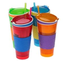 """Стакан """"пить + есть"""" 2 в 1 (Snack and drink cup)"""